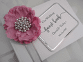 Personalised Wedding Guest Book - Pink Peony